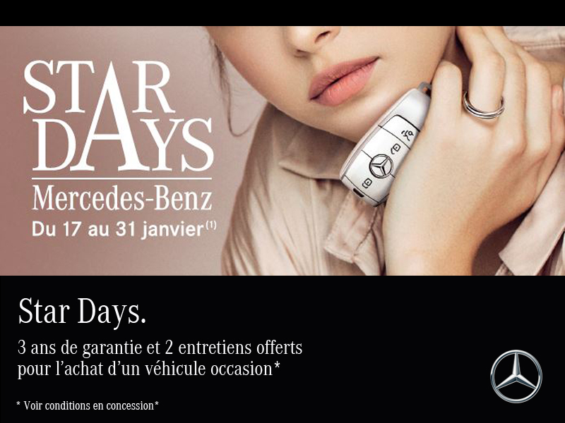 STAR DAYS - VÉHICULE OCCASION